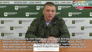 Брифинг официального представителя НМ ЛНР подполковника Марочко на 20.02.2017 + English Subtitles